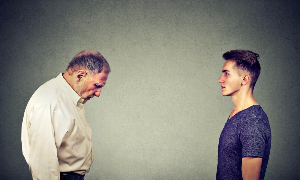 50代男性と20代男性