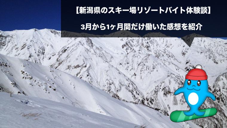 新潟県のスキー場リゾートバイト体験談