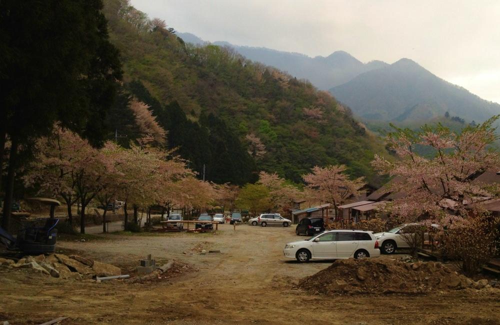 キャンプ場の景色