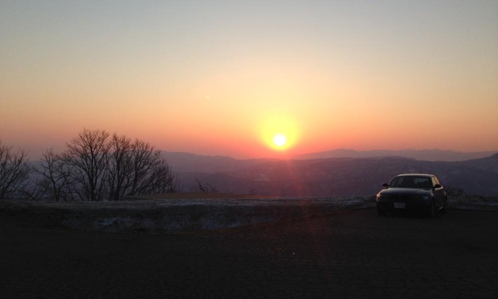 離島から見える夕日