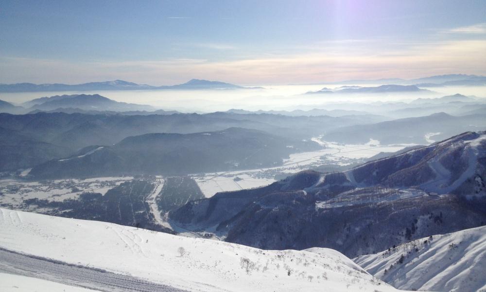 スキー場から見える絶景