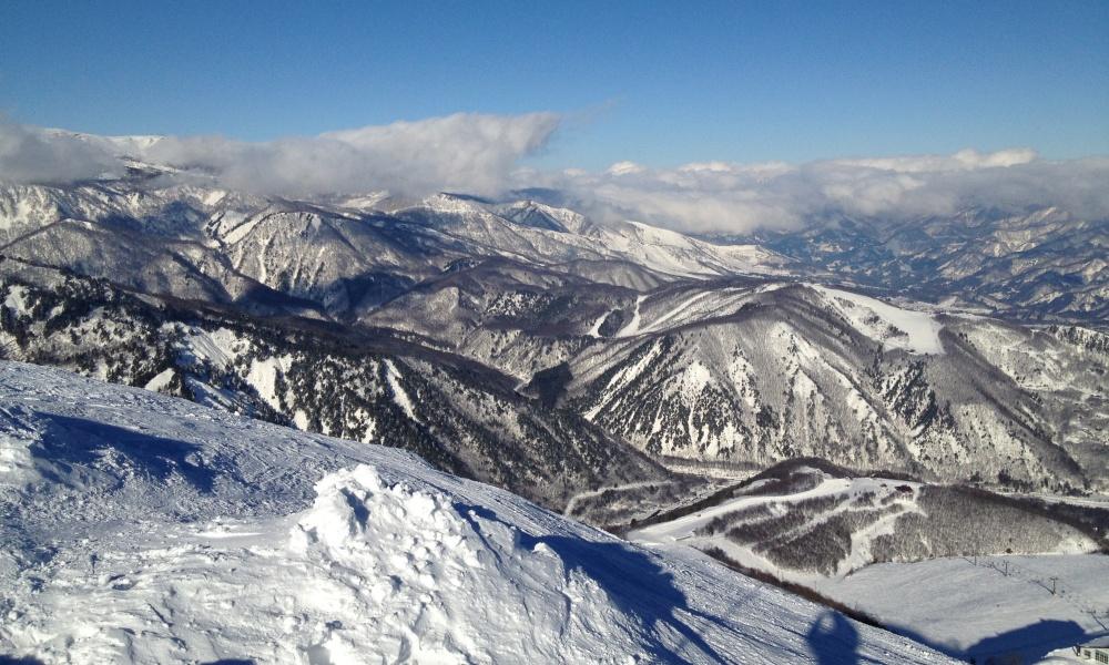 スキー場山頂からの景色
